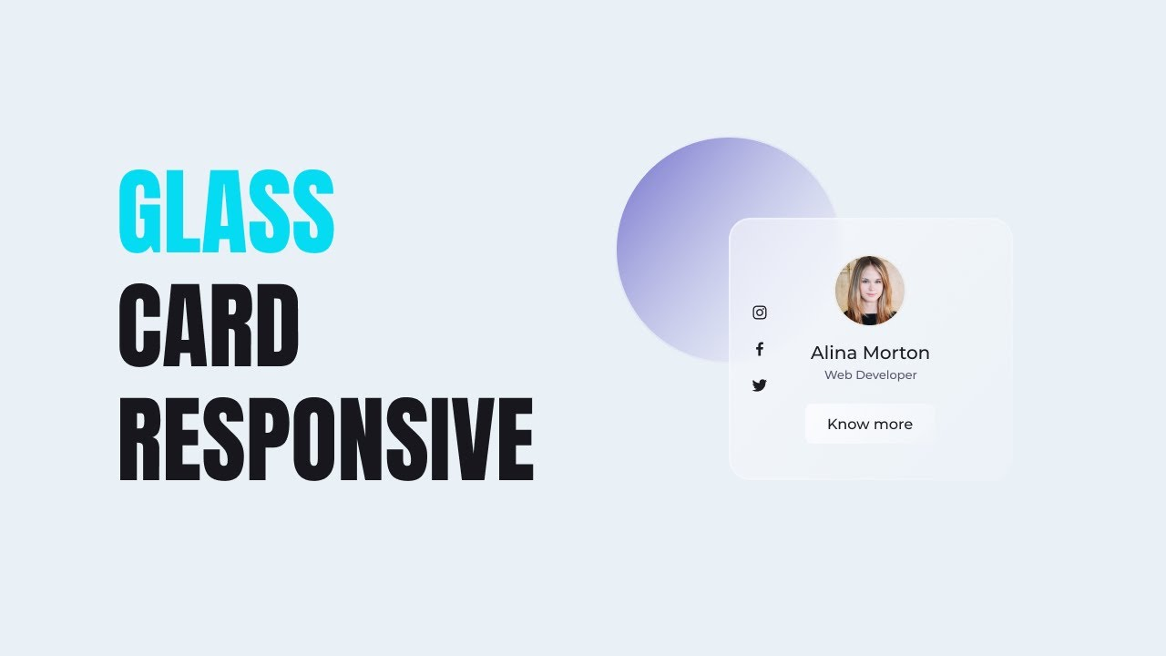 Glassmorphism Ui Card Responsive Usign HTML And CSS