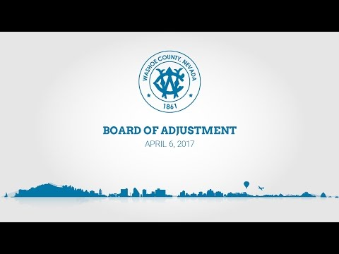 Washoe County Board of Adjustment | April 6, 2017