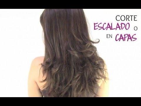 Corte de cabello escalado a capas how to cut your own - Cortar el pelo en casa hombre ...