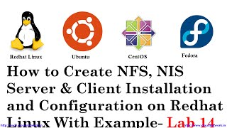 How to Create NFS, NIS Server & Client Install and Config on Redhat Linux With Example - Part 14