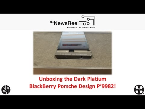 BlackBerry Porsche Design P9982 in Dark Platinum Unboxing & Hands on!