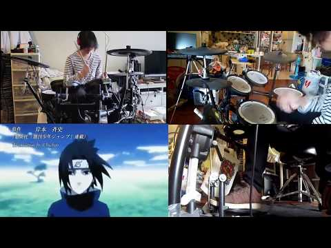 Naruto shippuden OP#2 (distance-long shot party) drums cover by DRUMMY ARCHITECT