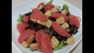 Нежный салат из куриной печени/Салат з курячої печінки/Салат с грейпфрутом