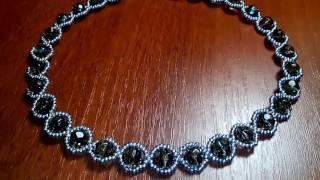 Колье из бисера и бусин. Мастер-класс для начинающих. Necklace from beads. Master class(Рада, что Вы зашли на мой канал! Предлагаю Мастер-класс по изготовлению простого колье, с таким плетением..., 2016-10-26T14:46:03.000Z)