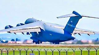 UNBELIEVABLE SHORT TAKEOFF!! U.S. Air Force Boeing C-17 Globemaster at Belgrade Airport