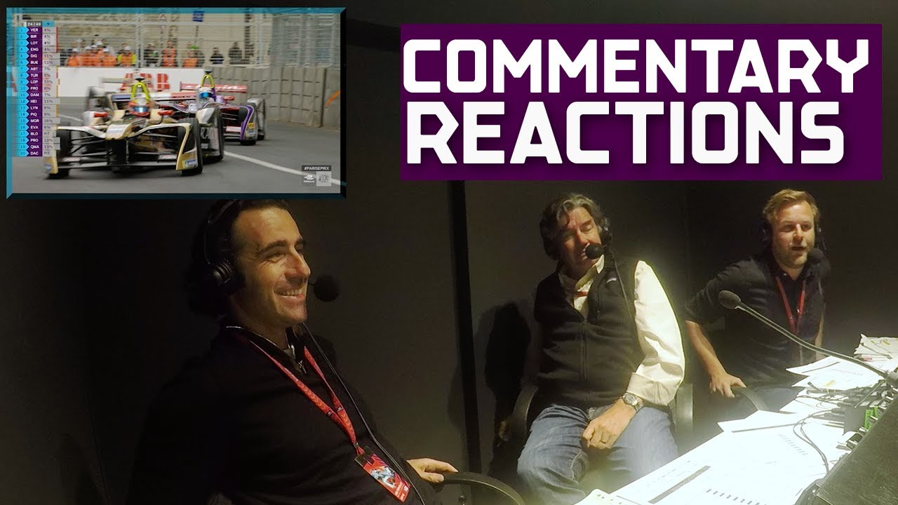 Commentators React To Formula E Race 2018 Qatar Airways Paris Prix