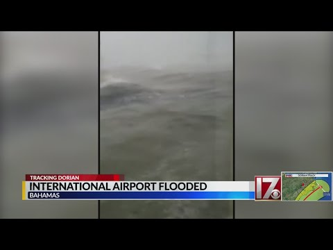International Airport in the Bahamas flooded