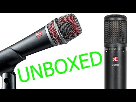 sE Electronics V7 X & sE2200 Microphones Unboxing