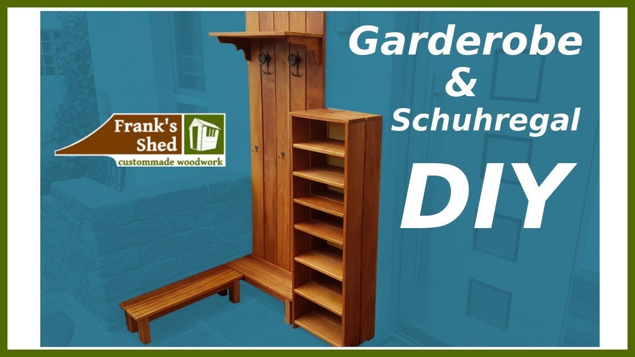 Gartenmöbel Aus Holz Selber Bauen Garderobe Und Schuhregal Für Kleine Ecke Bauen
