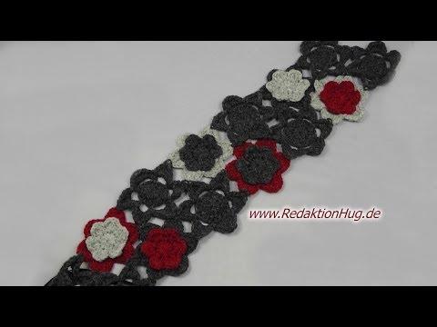 Häkeln Blüten Häkelblumen Für Schal Aus Teramo Von Prolana