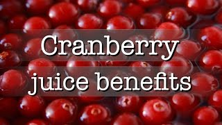 Cranberry juice benefits. - #juicydrinkcom