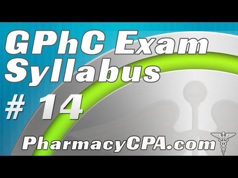GPhC Exam Syllabus