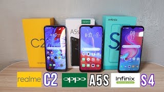 REALME C2 Vs OPPO A5S Vs INFINIX S4 - TRIPLE COMPARISON