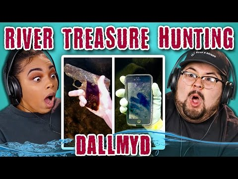 College Kids React to River Treasure Hunting (Finding iPhones, Human Remains, Murder Weapons)