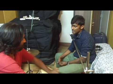 Music setup for Alex in Wonderland  Words from whereabouts  Ft Tabla wizard Muthu and Alex