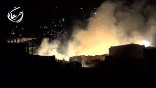حريتان || شاهد كيف يحرق الطيران الروسي المدينة بالفسفور 22-6-2016(, 2016-06-21T23:41:57.000Z)