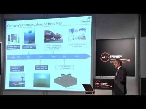 Tim Sawyer, Project Development Manager, Carnegie Wave Energy UK at All-Energy 2014