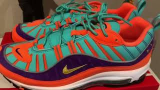 100eedd7268a Air max 98 cone on foot review