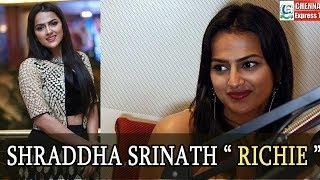 Gorgeous Shraddha Srinath Speech at Richie Tamil Movie Audio Launch   Chennai Express Tv