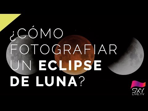 ¿Cómo fotografiar un ese total de Luna?