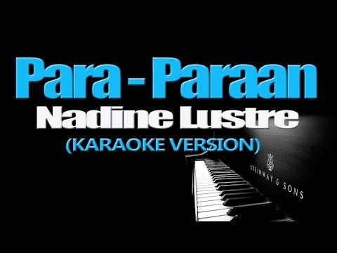 PARA-PARAAN - Nadine Lustre (KARAOKE VERSION)