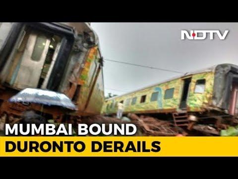 5 Coaches Of Duronto Express Derail Near Thane In Maharashtra