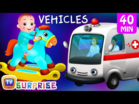 Thumbnail: Surprise Eggs Street Vehicles For Kids | Baby, Public Transport, Utility Vehicles & more | ChuChu TV