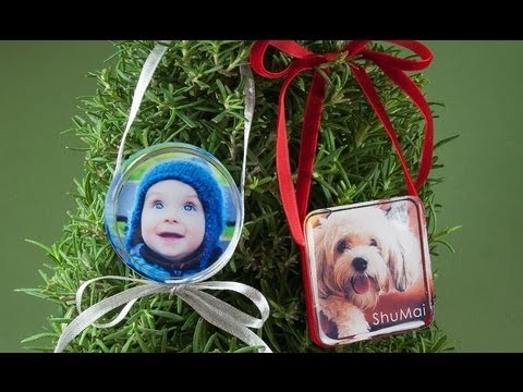 DIY Resin Photo Ornaments, by Little Windows