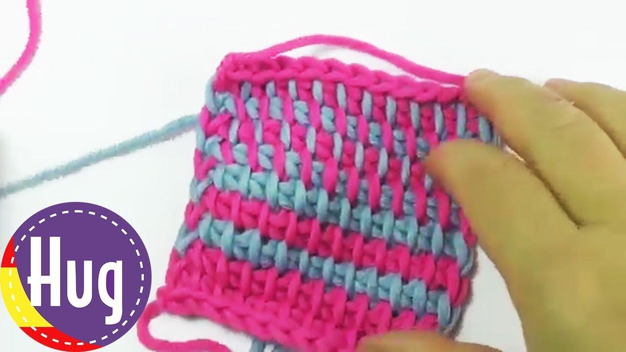 Aprender tejido tunecino para principiantes - patrón básico ...
