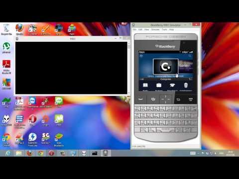 ลงทะเบียน LINE บน PC ด้วย BlackBerry Simulators