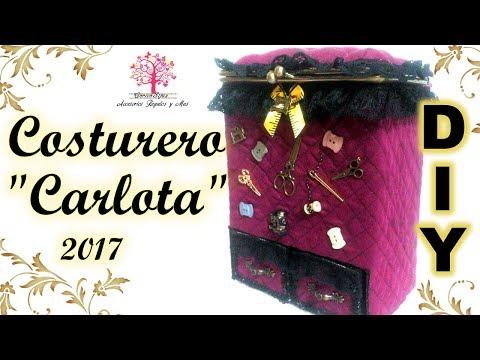 Costurero DIY De Carton Con Boquilla