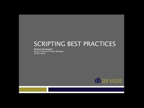 FileMaker Scripting Best Practices