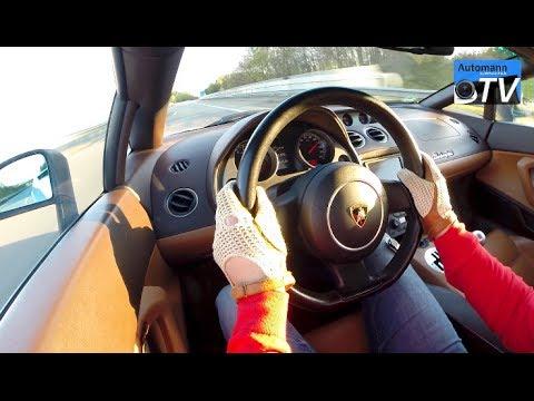 Lamborghini Gallardo (520hp) - FAST Autobahn ride (1080p)
