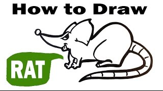 How to Draw a Rat - Cute Art - Easy Pictures to Draw