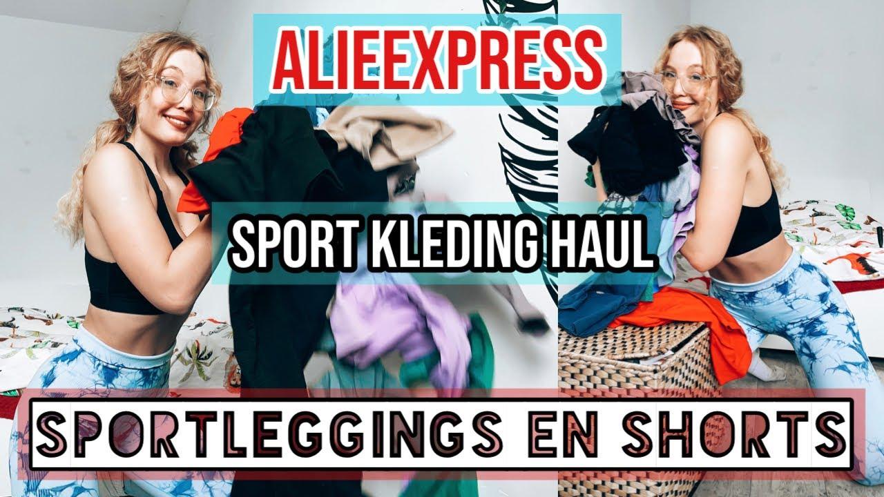 ALIEXPRESS SPORTLEGGING HAUL REVIEW! sportleggings TRY ON | Favoriete sportkleding | SHOPLOG