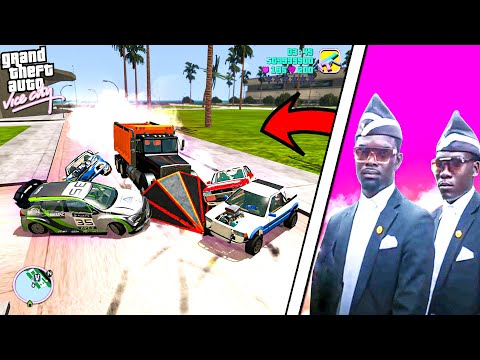COFFIN MEME + BEAMNG + GTA VICE CITY = ...         PART 2 | ASTRONOMIA SONG | BeamNG Drive MEMES #59