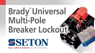 How to Install A Brady® Universal Multi-Pole Breaker Lockout Device | Seton Video