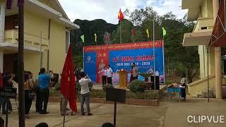 Bộ trưởng Phùng Xuân Nhạ về dự Khai giảng tại các trường thuộc xã Tân Hoá vùng rốn lũ