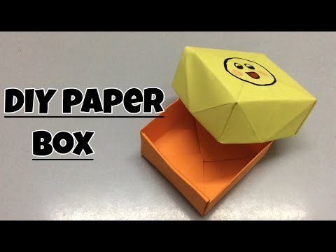How to make a DIY Origami Paper Storage Box with a lid // AC Crafts