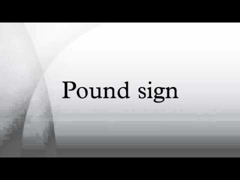 Pound Sign Youtube