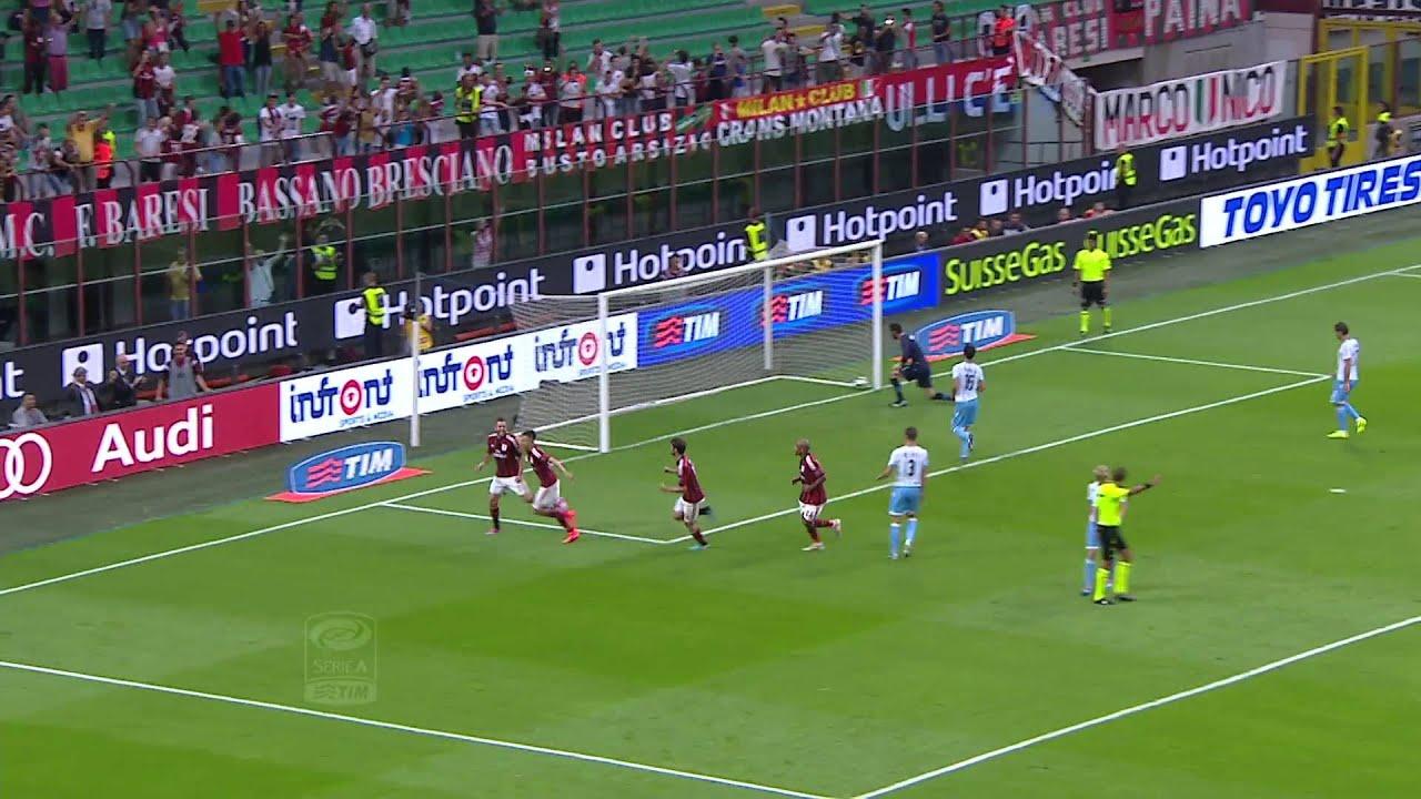 Milan - Lazio 3-1 - Highlights - Giornata 01 - Serie A TIM 2014/15 - YouTube
