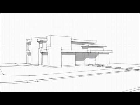 Greico Modern Homes Dallas - Church Street Design/Build Project - Design Study I