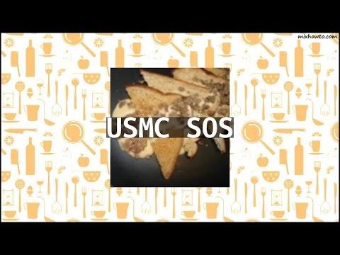 Recipe USMC SOS