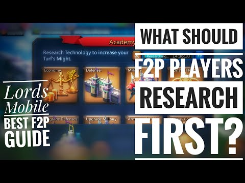 Lords Mobile Best F2P Guide What Should F2P Players Research First?