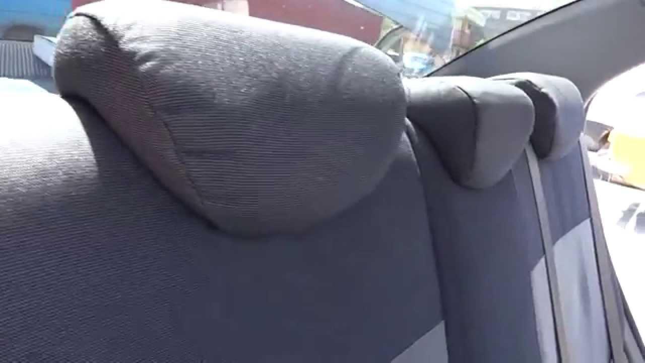 как надеть чехол на заднее сиденье в киа рио