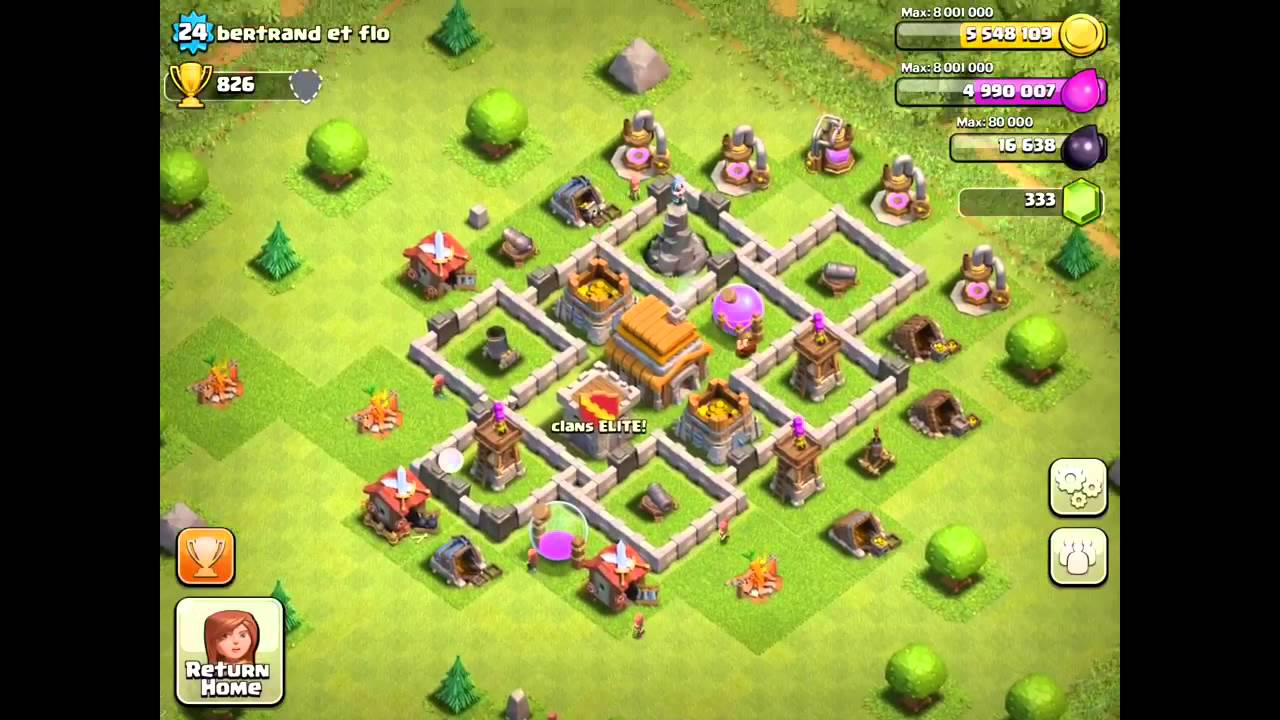 Clash of clans base design town hall level 5 ~ share blog post.