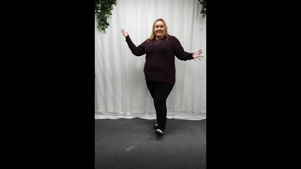 plus size purple and black jumper