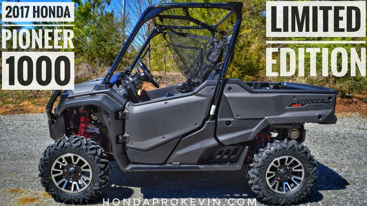 Honda Pioneer Reviews >> 2017 Honda Pioneer 1000 Limited Edition Review Of Specs Features Utv Walk Around Sxs10m3le