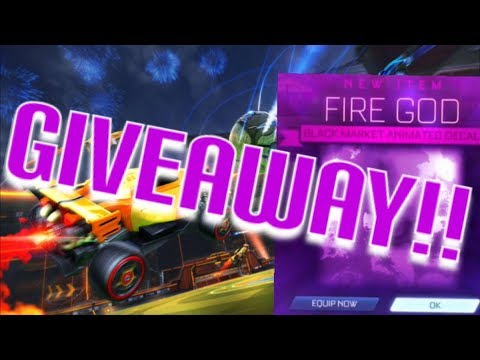 GIVING AWAY FIRE GOD TO MY LIVE CHAT And SKY BLUE SOLOR FLAIR TOURNEY  | ROCKET LEAGUE