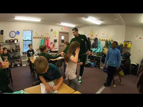 William & Mary Tribe Basketball Visited Matthew Whaley Elementary School